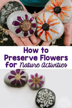 Nature Crafts What if I told you there is a way to add flowers to your kids nature activities and there's a solid chance (I'm a realist) you can enjoy them over and over again for months if not years? Forest School Activities, Activities For Adults, Nature Activities, Summer Activities, Toddler Activities, Flower Activities For Kids, Outdoor Activities, Projects For Kids, Crafts For Kids