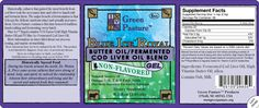 Limited supply....BLUE ICE™ Royal Butter Oil/Fermented Cod Liver Oil Blend - Non-Flavored