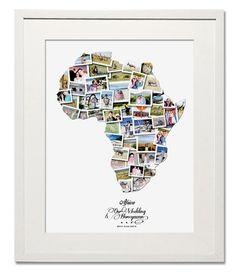 Africa Wedding, Honeymoon or Anniversary Collage