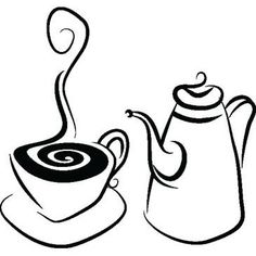 Illustration about Simple stylistic illustration of a coffee set. Illustration of classic, morning, afternoon - 7803590 Coffee Cup Art, Coffee Set, Shadow Silhouette, Silhouette Design, Vinyl Projects, Projects To Try, Doodles, Tea Pot Set, Coffee Design