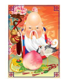 Chinese God of Longevity on Behance