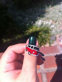 Volkswagen, dark green nail polish