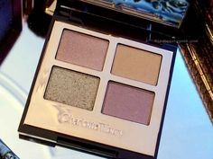 Closer look at the Charlotte Tilbury Legendary Muse Luxury Palette of eyeshadow from the Dreamy Look in a Clutch holiday collection.