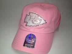 Swarovski crystal bling Kansas City Chiefs adjustable hat