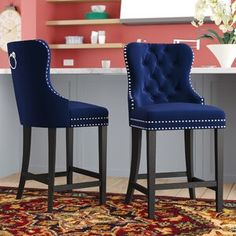 Find Costigan Velvet 26 Bar Stool (Set Darby Home Co online. Shop the latest collection of Costigan Velvet 26 Bar Stool (Set Darby Home Co from the popular stores - all in one 26 Bar Stools, Bar Chairs, Counter Stools, Side Chairs, Desk Chairs, Bar Counter, Eames Chairs, Small Chairs, Island Chairs