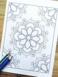 "Mandala ""Compassion"" Corner - Hand Drawn Adult Colouring Print"