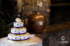 Polka Dot wedding cake, purple and White fall cake Wedding Cake Photos, Wedding Cakes, Polka Dot Wedding, Fall Cakes, Dots, Purple, Desserts, Wedding Gown Cakes, Wedding Pie Table