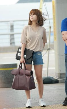 AOA JIMIN how can one look like this without even trying? Jimin Airport Fashion, Kpop Fashion, Girl Fashion, Jimin Aoa, Shin Jimin, Seolhyun, Kpop Girl Groups, Kpop Girls, K Pop