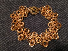 Bronze mobius rosettes from kit by Blue Buddha Boutique.