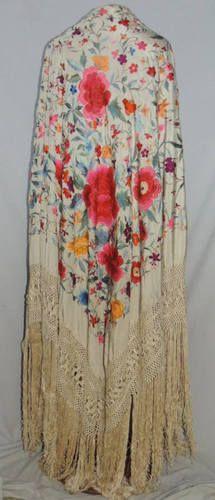 ee46595498b7 56 Best spanish silk shawl images   Silk shawl, Bangs, Blouses