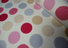 Canvas+Dekostoff,+Big+Dots,+bunt+0,5+m+von+Mialana+auf+DaWanda.com