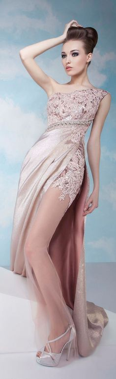 Light dress by Tony Chaaya Couture 2014 Evening Dresses, Prom Dresses, Formal Dresses, Beautiful Gowns, Beautiful Outfits, Elegant Dresses, Pretty Dresses, Mode Glamour, Beauty And Fashion