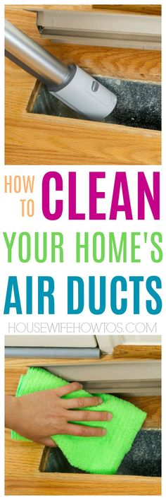 How to clean your own air ducts - I had no idea you can DIY this but now this household chore is part of my monthly cleaning routine. Cleaning Air Vents, Duct Cleaning, Oven Cleaning, Cleaning Recipes, House Cleaning Tips, Spring Cleaning, Cleaning Hacks, Organizing Tips, Organization