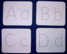 printable ABC cards- laminate for dry erase markers