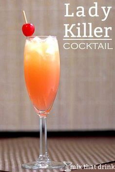 The Lady Killer drink recipe tastes mainly like pineapple and passion fruit juices, but with hints of orange, apricot and some citrus and herbal notes from the gin. It's a refreshing, fruity cocktail.