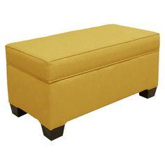 Skyline Custom Upholstered Box Seam Bench