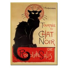 Tournee du Chat Noir Canvas Art by Theophile A. Steinlen | from hayneedle.com