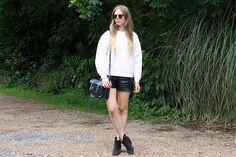 anna lou elliott | 15.06.14 wearing #TopshopBoutique white sweatshirt, #IsabelMarant #Dicker boots and #CambridgeSatchelCompany navy satchel #todayimwearing #ootd