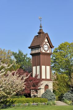 Clock Tower in Rocky River, Cleveland, Ohio