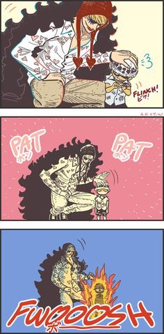 Clumsy - Trafalgar D. Water Law and Donquixote Rocinante (Corazon) (Corasan, Cora-san) One Piece
