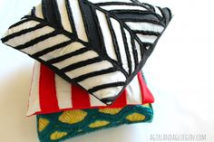 Home sewn series with Living with punks–Faux Chenille PILLOWS!