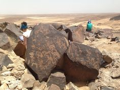 The discovery of thousands of rocks inscribed with artwork suggests that Jordan's Jebel Qurma region once had trees, wildlife and a sizable human population.