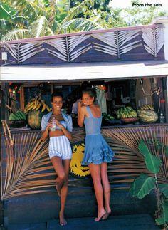 Vogue US June 1992 - Nadege Dubosfertus & Christy Turlington by Patrick Demarchelier