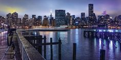 Kurt Krause: New York Manhattan im Abendlicht Manhattan, Skyline Von New York, Vinyl, Wands, New York City, Wall Art, Travel, Material, Products