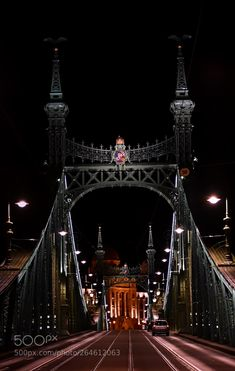 Budapest Night Liberty Bridge, Virtual Travel, George Washington Bridge, Budapest Hungary, Most Visited, Tower Bridge, Night, Street, City
