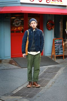 Korean street fashion with american workwear Korea Street Style, Korean Street Fashion, Gents Fashion, Workwear Fashion, Rugged Style, Japanese Outfits, Japan Fashion, Mens Clothing Styles, Autumn Winter Fashion