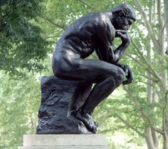 """Auguste Rodin – """"The Thinker"""", bronze sculpture on a marble pedestal, first casting in Musée Rodin, Paris, France. Auguste Rodin, Musée Rodin, Camille Claudel, Modern Sculpture, Sculpture Art, Bronze Sculpture, Rodin The Thinker, Rodin Museum, Ange Demon"""