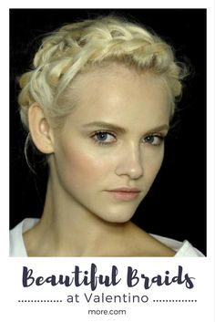 "This braid is anything but ordinary. Created by Redken Creative Consultant Guido Palau for the Valentino runway show at Paris Fashion week, it looks romantic and effortless—and it's easy to do, too. ""The look we created is a French braid wrapped around the head,"" Guido says. ""The kind of beauty that is timeless."" Find out how to recreate this stunning style at home."