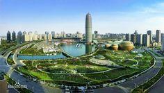 AsianTowers: Zhengzhou Greenland Plaza - The Modern Pagoda Asian Architecture, Zhengzhou, Tianjin, Grand Canal, Qingdao, Beijing, Marina Bay Sands, Worlds Largest, Skyline