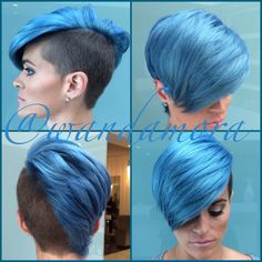 Ice blue concocted by Wanda and cut by Justin Moya ...you can book us at 856-751-2233