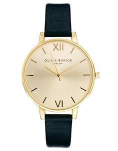 Buy Olivia Burton Big Dial Black Watch at ASOS. With free delivery and return options (Ts&Cs apply), online shopping has never been so easy. Get the latest trends with ASOS now. Asos, Jewelry Accessories, Fashion Accessories, Fashion Watches, Real Leather, Jewelry Watches, Women's Watches, Bling, Jewels