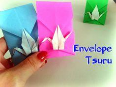 Como fazer Origami Envelope Tsuru (Grou) - Passo a Passo