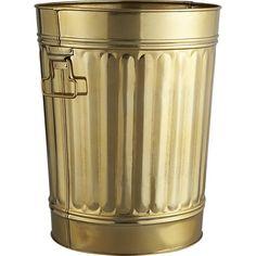 gold wastecan | CB2