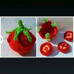 Tomato Crochet Pattern Amigurumi Play Food Softie par Crochetverse