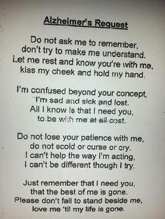 رسالة مؤثرة علقت على مدخل غرفة مرضى الزهايمر في أحد مستشفيات أمريكا