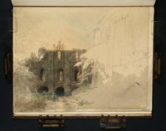 Joseph Mallord William Turner 1775–1851 Fountains Abbey: The Lay Brothers' Dormitory and Refectory with the River Skell Date1797 Graphite on paper 210 x 270 mm