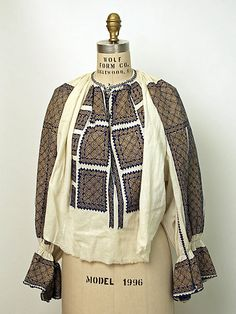 Dress Date: 1900–1981 Culture: Romanian Medium: cotton, metal