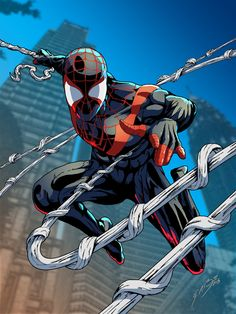 Ultimate Spider-Man/Miles Morales (by: gemgfx) Ultimate Spider Man, Ultimate Marvel, Comic Book Drawing, Comic Books Art, Comic Art, Miles Morales, Marvel Show, Marvel Vs, Spectacular Spider Man