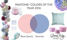 Colors of the year 2016.  Be inspired!