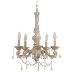 Laconia Mini Chandelier  Has a vintage feel to it.