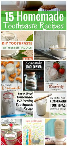 Whether youre looking to whiten teeth without harsh bleach needing a new flavor or wanting to help ease a cavity weve got a homemade toothpaste recipe for you. Check out these 15 options for DIY toothpaste recipes that fit every taste budget and allergy. Toothpaste Recipe, Kids Toothpaste, Homemade Toothpaste, Natural Toothpaste, Homemade Teeth Whitening, Whitening Soap, Teeth Whitening Remedies, Natural Teeth Whitening, Pasta Dental Casera