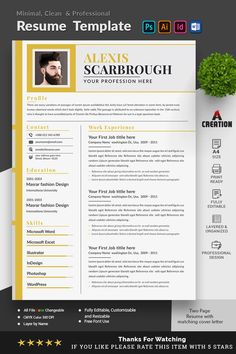 This Resume/CV Template is well organized and structured Images, texts and colors are fully editable. All File are very well Cv Resume Template, Resume Cv, Chronological Resume Template, Reference Site, First Job, Professional Resume, Word Doc, Company Names, Website Template