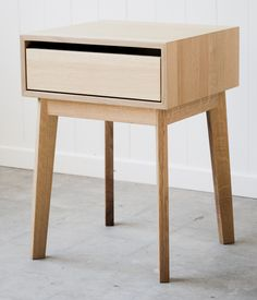 Two in stock - Solid Quarter Sawn White Oak Nightstand: Remodelista
