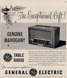 1950 General Electric Table Radio Model 410 PRINT AD