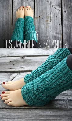 jambières au tricot par Nadia d'Itty Bitty / knitted legwarmers (French @ English pattern)