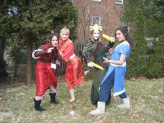 Avatar Last Airbender cosplay group